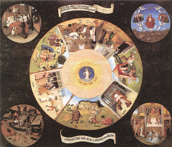 The Seven Deadly Sins and the Four Last Things by Hieronymous Bosch