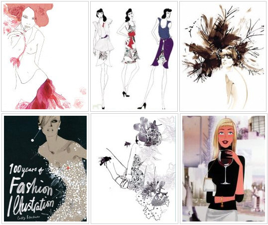 Examples of fashion illustration.