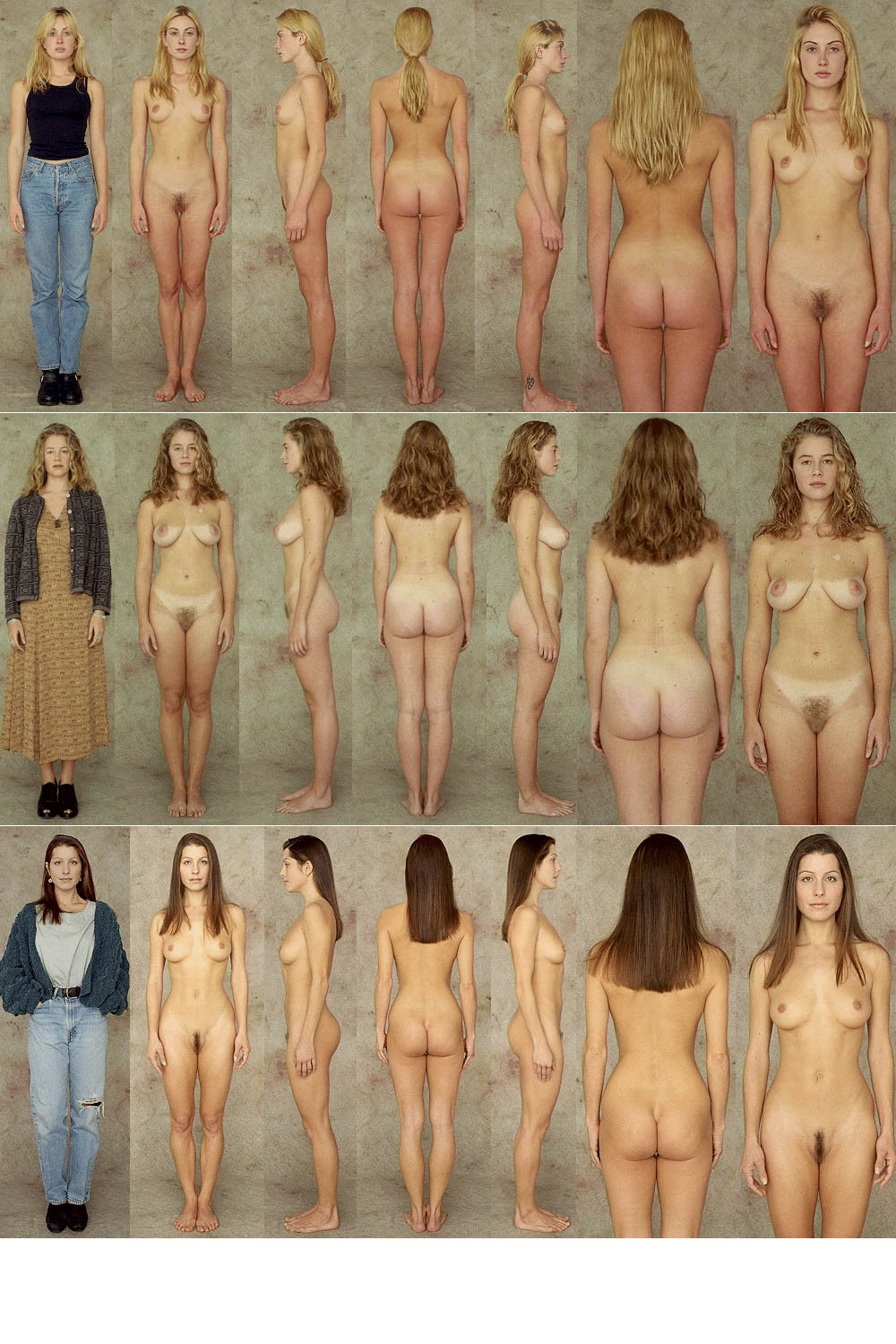 Average nude below women
