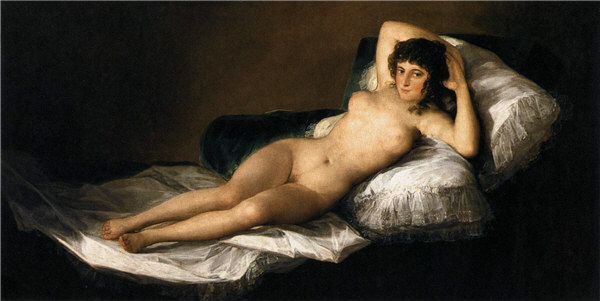 La maja desnuda (The nude maja) by Francisco de Goya