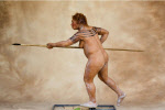 a Neanderthal woman hunter