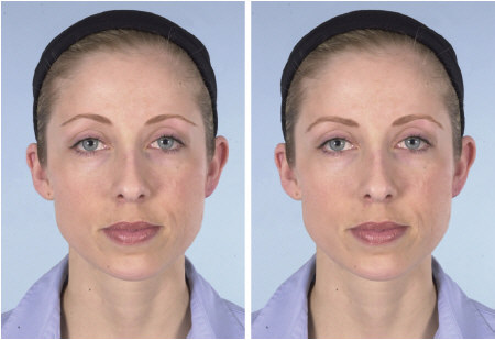 Westmore and make-up artist versions of eyebrows for a square face.