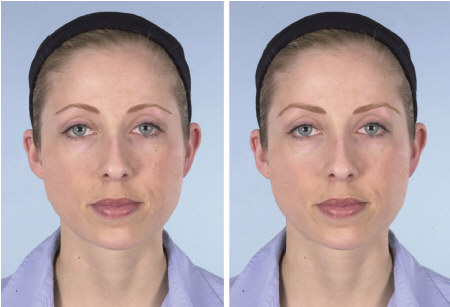 Westmore and make-up artist versions of eyebrows for a round face.