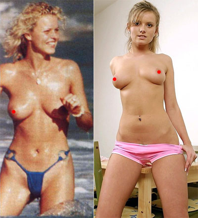Eva Herzigova and Nikky Case