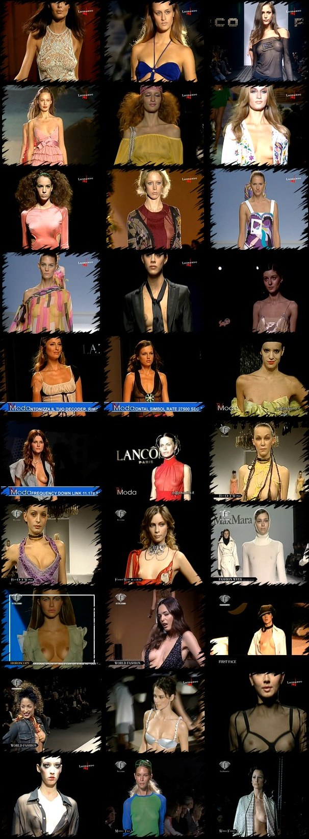 Exposed breasts and nipples in fashion shows