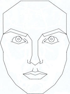 Marquardt's Phi (golden ratio) mask.