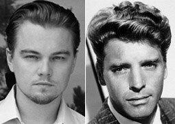 Leonardo DiCaprio (left) and Burt Lancaster.