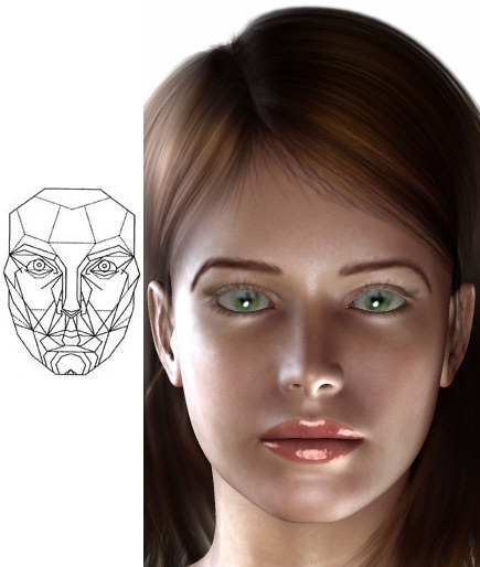 Marquardt's Phi mask and Victoria 4 from Daz3D.