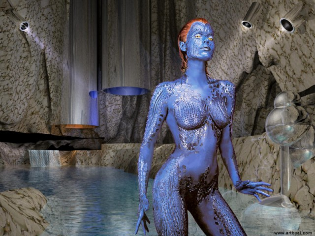 Rebecca Romijn as Mystique from X-Men
