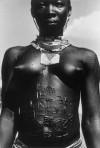 Nuba woman with scarification