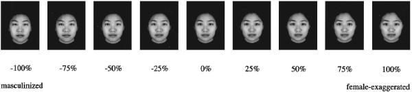 Manipulation of an average Chinese female face.