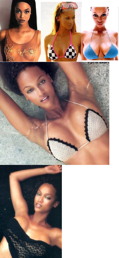 Tyra Banks fake breasts / implants