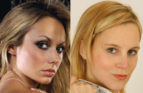 More and less European-looking jaws in white women; Stacy Keibler and Joceline from only tease.