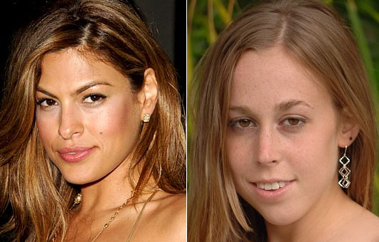 Eva Mendes and Lizzy from FTV girls.