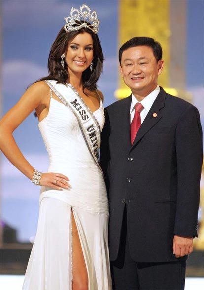 Natalie Glebova and Thaksin Shinawatra.