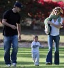 Tom Brady with son and Gisele Bundchen.